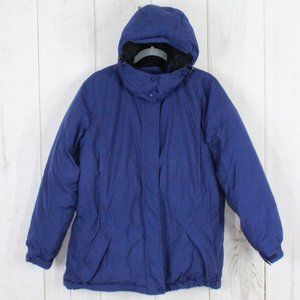 LL BEAN Insulated Goose Down Hooded Jacket Size M